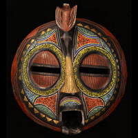 Baluba Mask 56: Click for more views of this African Mask.