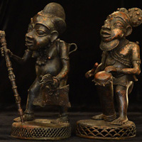 African Bronze - Bamum Bronze of couple