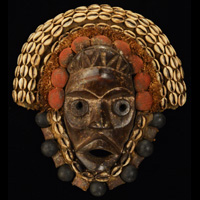 African Dan Mask 63: Click for more views of this African Mask