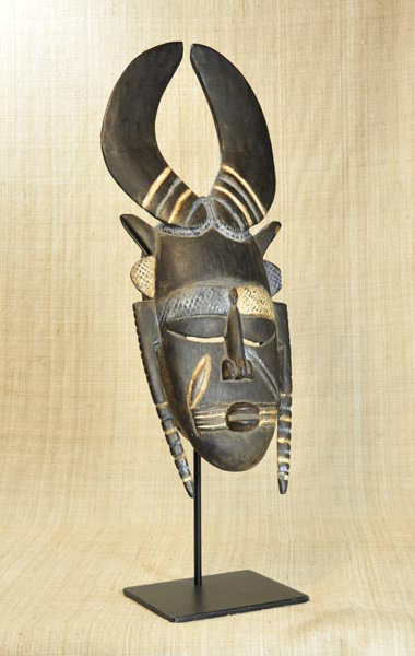 African Mask from the Jimini Tribe of Guinea