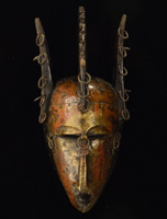African Marka Mask 45: Click for more views of this African Mask