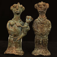 Namji Bronze Family 8: Click for more views of this African Bronze.