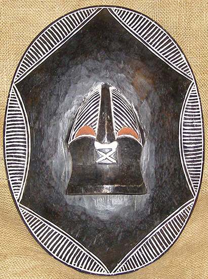 African Shields - Songye Shield 1 - Songye Tribe - from