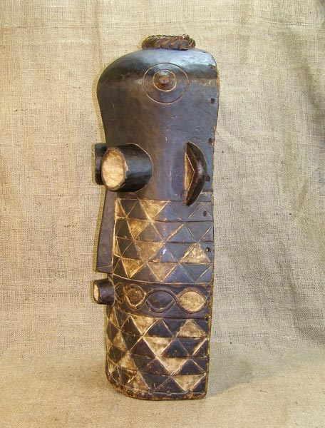 African Tetela Mask and African Sculptures