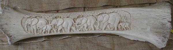African Decorative Carved Elephant Bone Various Tribes From Genuineafrica Com